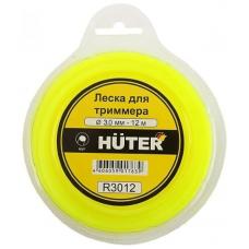 Леска для садовых триммеров Huter R3012 d=3мм L=12м для Huter GGT-1900S(T) (71/2/1)