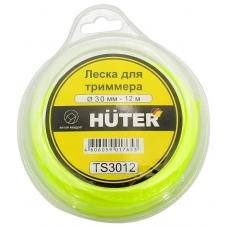 Леска для садовых триммеров Huter TS3012 d=3мм L=12м для Huter GGT-1900S(T) (71/2/3)