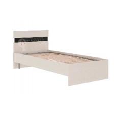Кровать односпальная с ортопедическим основанием Атлант Сити 71 Сосна Карелия/Чёрный Глянец