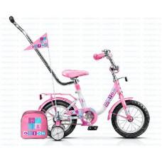 Детский велосипед Stels Flash 12-8.5 Розовый/белый