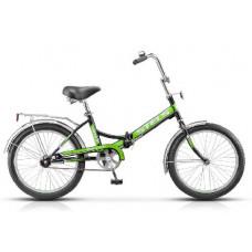 Велосипед Stels Pilot-410 20 Чёрный/зелёный