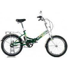 Велосипед Stels Pilot-430 20 Серебристый/зелёный