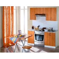 Набор кухонной мебели Мегаэлатон Лиана-Эконом 1700 красный орех