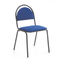 Стул Алмет СТАНДАРТ ткань 412 синяя, к-с черный