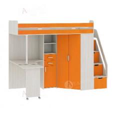 Кровать 2-х ярусная Атлант Карамель 77-03 Сосна карелия/Оранжевый