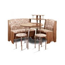 Набор кухонной мебели Бител ЛОТОС Орех-Лион /Замша-623 Вензеля
