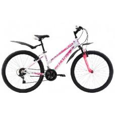 "Велосипед Black One Alta 26 бело-розовый 18"""