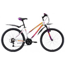 """Велосипед Black One Alta 26 белый/фиолетовый/жёлтый, рама-14,5"""""""