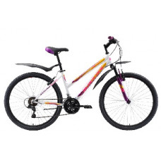 """Велосипед Black One Alta 26 белый/фиолетовый/жёлтый, рама-18"""""""