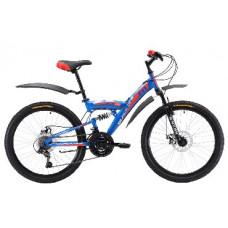Велосипед Black One Ice FS 24 D сине-красный