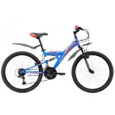 Велосипед Black One Ice FS 24 сине-красный