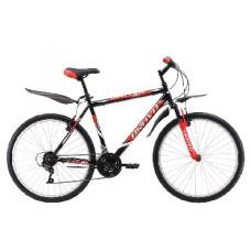 """Велосипед Bravo Hit 26 чёрный/красный/белый, рама-16"""""""