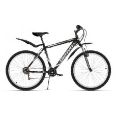 "Велосипед Bravo Hit 26 чёрный/тёмно-серый/серый, рама-16"""
