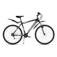 "Велосипед Bravo Hit 26 чёрный/тёмно-серый/серый, рама-18"""