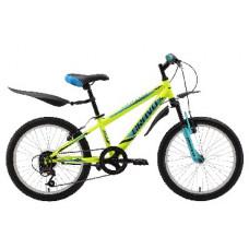 Велосипед Bravo Jazz 20 жёлтый/голубой/чёрный