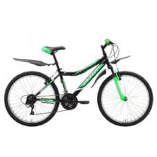 Велосипед Bravo Jazz 24 чёрный/зелёный/серый