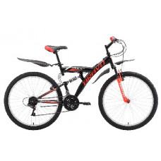 """Велосипед Bravo Rock 26 чёрный/красный/белый, рама-16"""""""