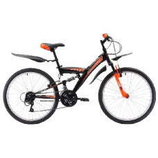 Велосипед Challenger Cosmic FS 24 чёрный/оранжевый/белый