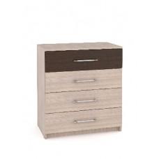 Комод Мебель-Комплекс Камелия К4КМ Ясень Шимо светлый+Венге Цаво/Ясень Шимо светлый