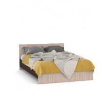 Кровать Мебель-Комплекс КАМЕЛИЯ 1400*2000 Ясень Шимо Светлый/Венге