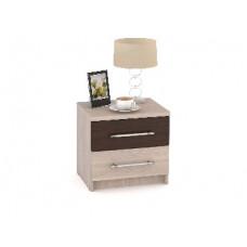 Тумба прикроватная Мебель-Комплекс Камелия ТКМ Ясень Шимо светлый+Венге Цаво/Ясень Шимо светлый (1 п