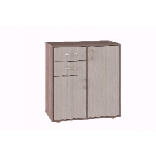 Комод Мебель-Комплекс К-14Д Ясень Шимо светлый/Ясень Шимо темный