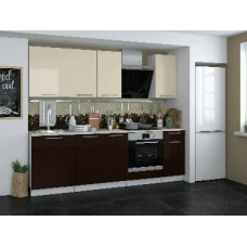 Набор кухонной мебели Мебель-Комплекс Кремона 2,4м /Ваниль- Кофе глянец