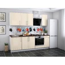 Набор кухонной мебели Мебель-Комплекс Светлана 2,4м /Топленое молоко