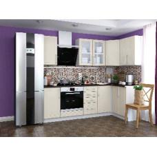 Набор кухонной мебели Мебель-Комплекс Светлана угол 2,4*1,2м /Топленое молоко