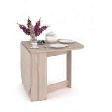Стол-тумба полукруглый Мебель-Комплекс Ясень Шимо светлый