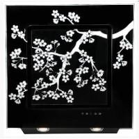 Кухонная вытяжка Elikor Оникс ART 90П черный/сакура