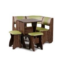 Набор кухонной мебели Бител ТЮЛЬПАН-МИНИ орех лион/салатовый с бежевым