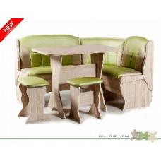 Набор кухонной мебели Бител ОРХИДЕЯ ясень/салатовый с бежевым