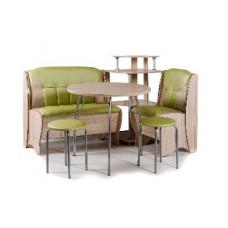 Набор кухонной мебели Бител ЛОТОС ясень/салатовый с бежевым