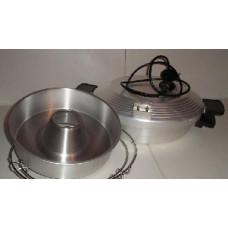 Чудо печь-сковорода УЗБИ с формой д/выпечки черно-белый