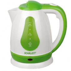 Чайник Scarlett SC-EK18P30 (белый с зеленым)