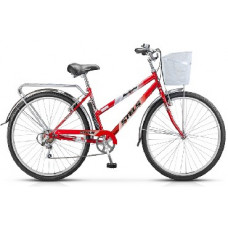 Велосипед Stels Navigator-350 LADY 28-20 Красный+корзина