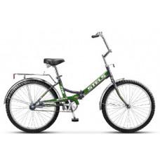Велосипед Stels Pilot-710 24 Чёрный/зелёный