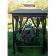 Садовые качели-беседка KingGarden KS 505 коричневый